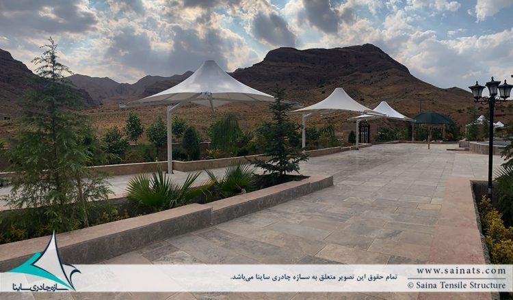 اجرای آلاچیق چادری محوطه در قلات شیراز