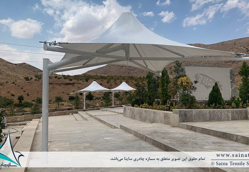 اجرای آلاچیق چادری محوطه در شیراز