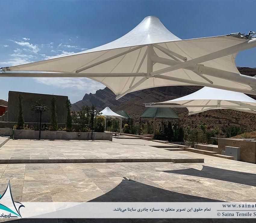 پروژه اجرای آلاچیق های چادری محوطه در اقامتگاه شیراز
