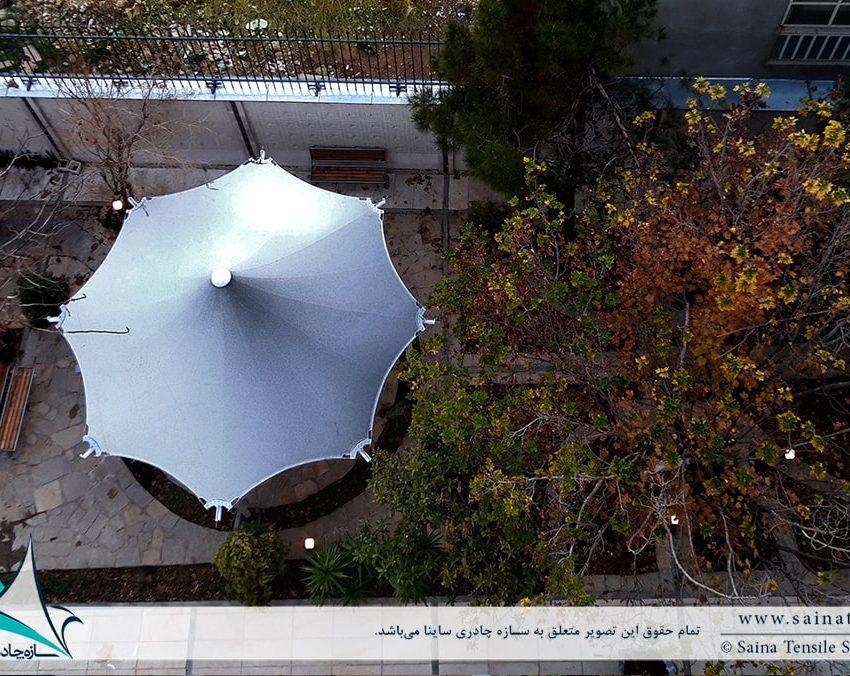 پروژه طراحی آلاچیق چادری ساختمان مسکونی در شیراز