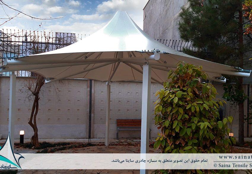 طراحی آلاچیق چادری ساختمان مسکونی در شیراز