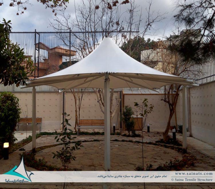 اجرای آلاچیق چادری ساختمان مسکونی در شیراز