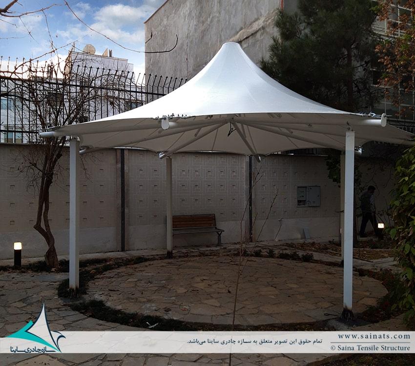 آلاچیق چادری ساختمان مسکونی شیراز