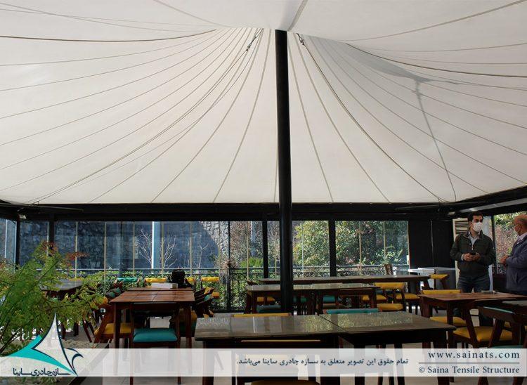 طراحی خیمه چادری کافه رستوران آبشار برج میلاد