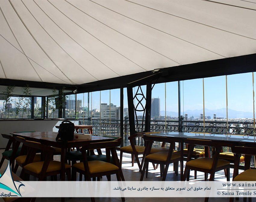 پروژه طراحی و اجرای خیمه چادری کافه رستوران آبشار برج میلاد