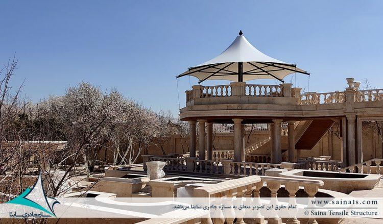 آلاچیق پارچه ای ویلا شهرک صدرا شیراز