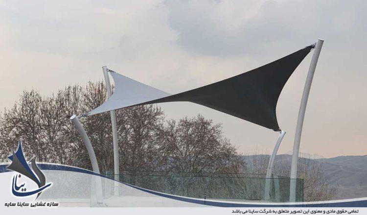 طراحی و اجرای آلاچیق چادری ویلا لواسان در شهرک باستی هیلز