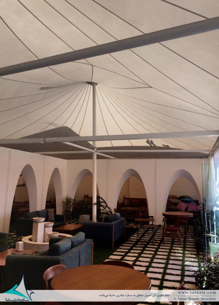اجرای سقف پارچه ای کافه رستوران