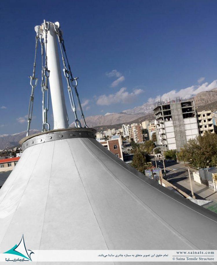 سقف پارچه ای کافه رستوران آنیل