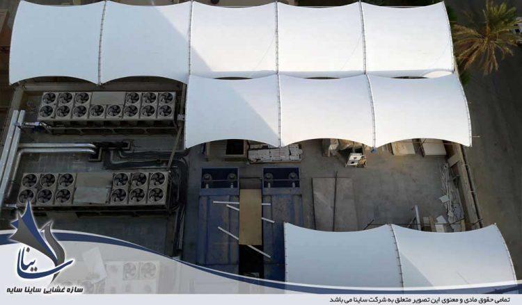 اجرای سازه چادری بانک تجارت اهواز شرکت گوپله