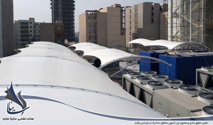 طراحی و اجرای سازه چادری بانک تجارت اهواز شرکت گوپله