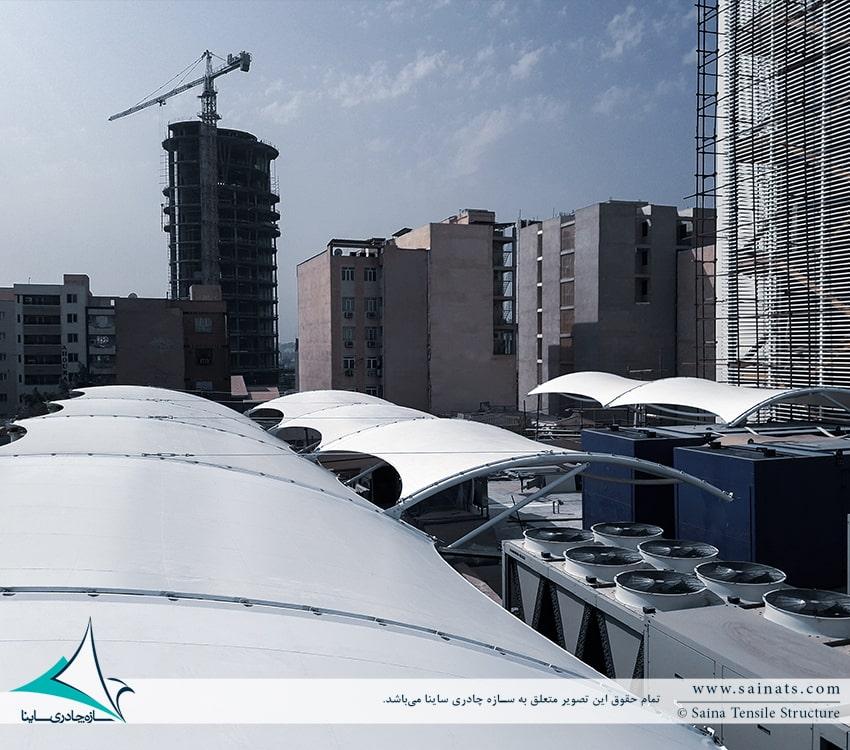 سازه چادری بانک تجارت اهواز