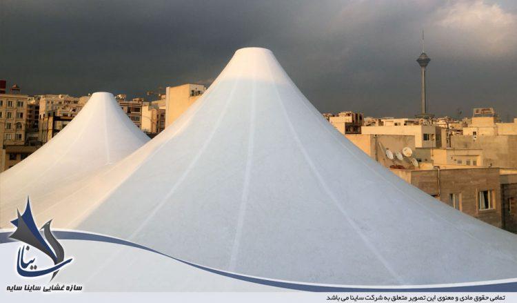 اجرای آلاچیق چادری روف گاردن در هلدینگ پیشرو