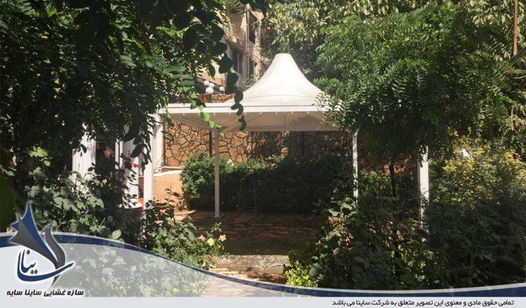 طراحی و اجرای سقف پارچه ای رستوران در فشم