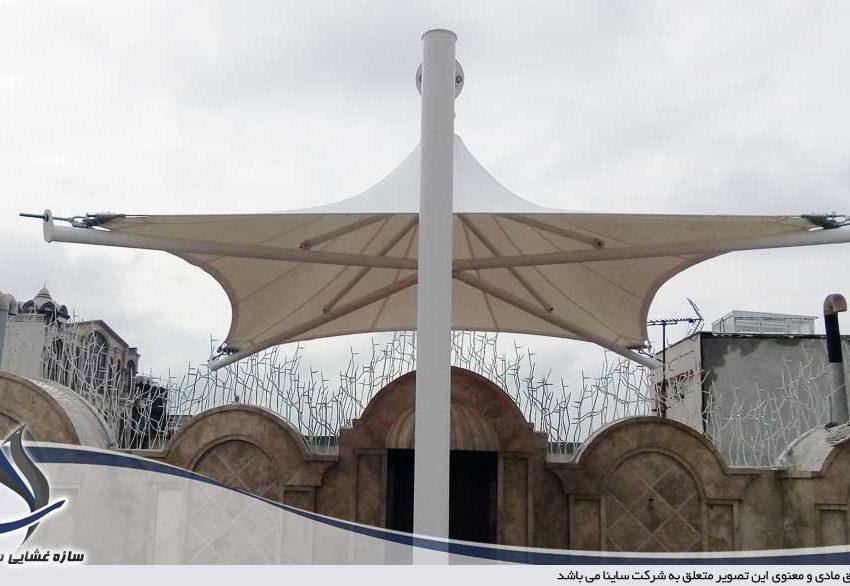 اجرای آلاچیق پارچه ای پشت بام در قم