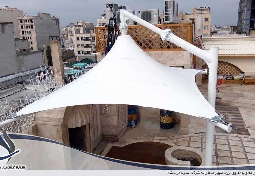 پروژه اجرای آلاچیق پارچه ای پشت بام قم