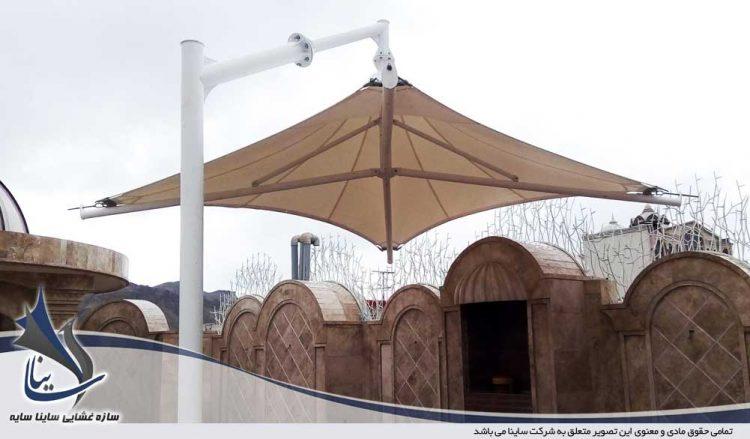 آلاچیق پارچه ای پشت بام قم