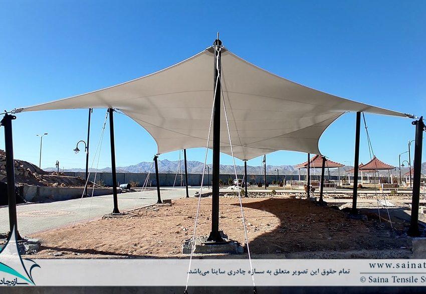 پروژه سایبان پارچه ای محوطه فضای باز در زاهدان