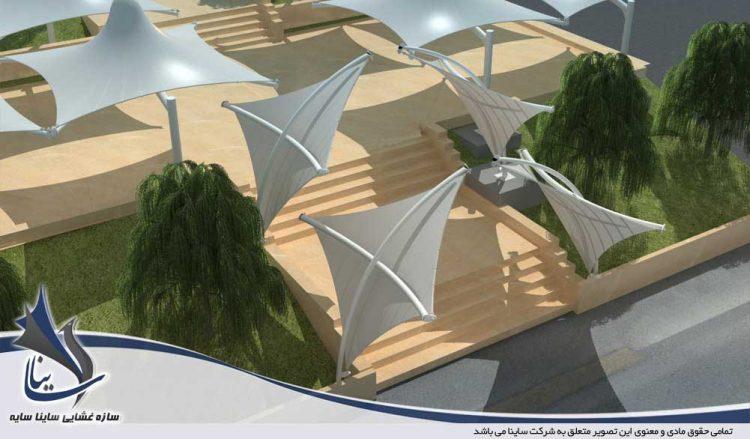 پروژه سایبان طرح سان شید در مجموعه صنایع دفاع