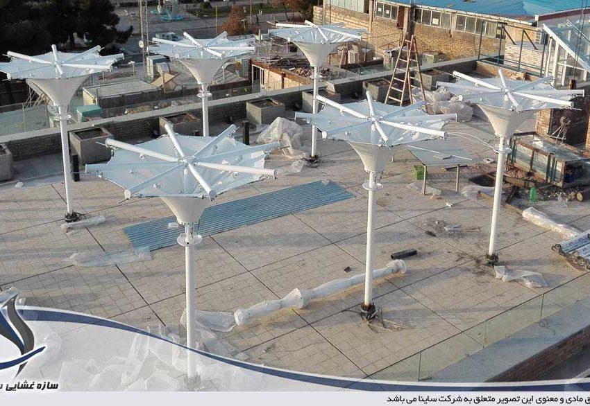 پروژه سازه پارچه ای دکوراتیو فودکورت در نیشابور