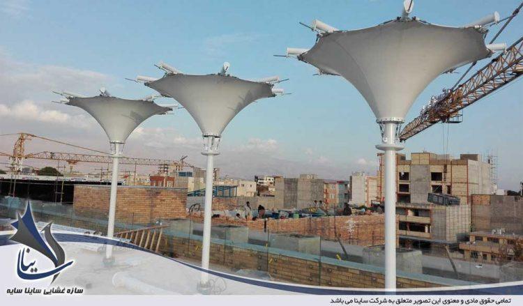 سازه پارچه ای دکوراتیو فودکورت در نیشابور