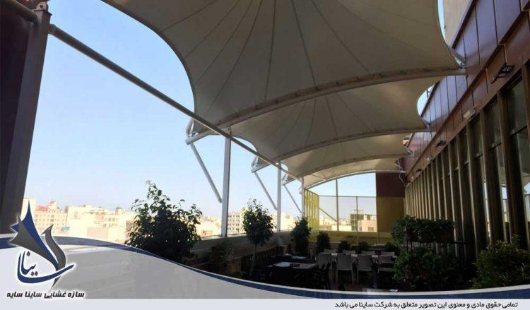 پروژه سایبان تراس فودکورت مجتمع تجاری شهر قم
