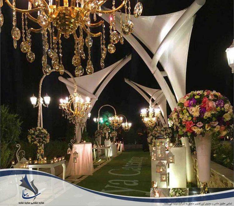 سایبان دکوراتیو باغ تالار عروسی