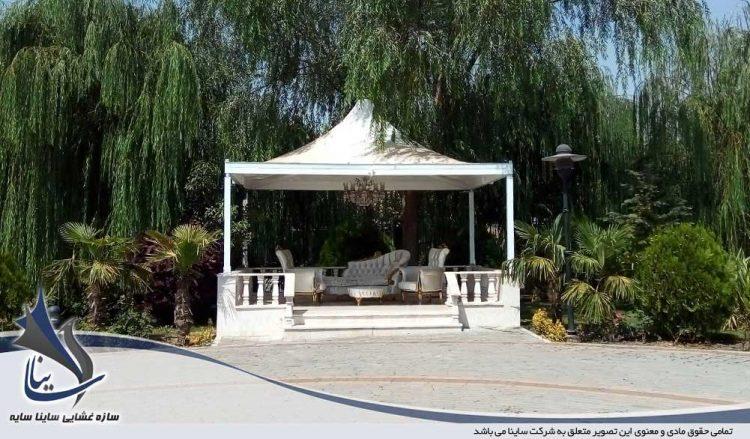 پروژه اجرای آلاچیق باغ تالار در آبیک قزوین