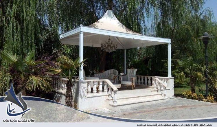 اجرای آلاچیق باغ تالار در آبیک قزوین