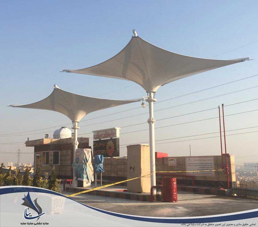 سایبان پارچه ای پمپ بنزین