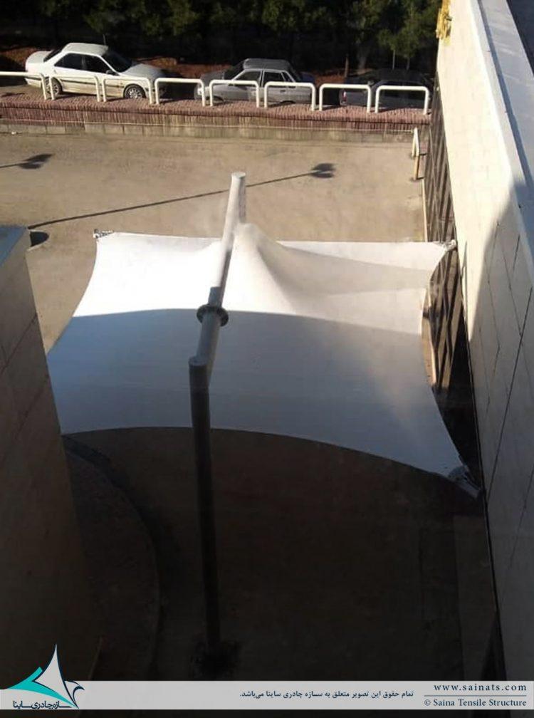 سایبان چادری ورودی بیمارستان فرشچیان در همدان