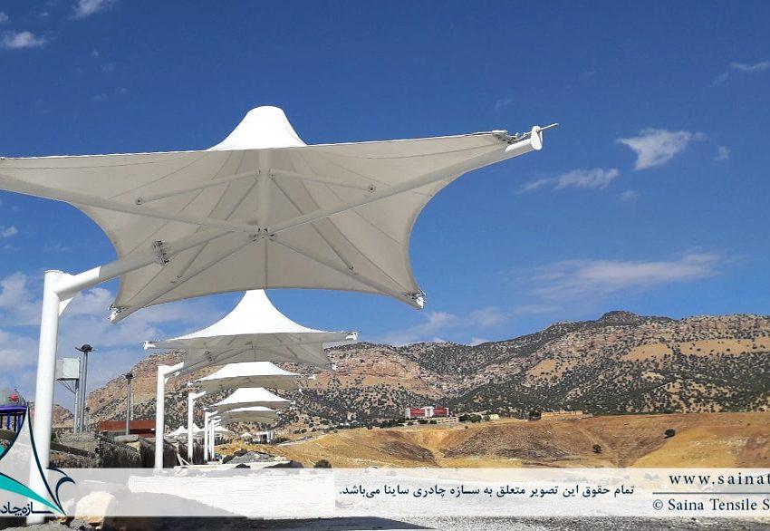 پروژه طراحی و اجرای آلاچیق چادری پارک ایلام