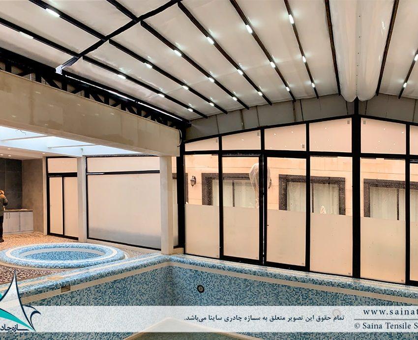 سقف متحرک استخر در مشهد
