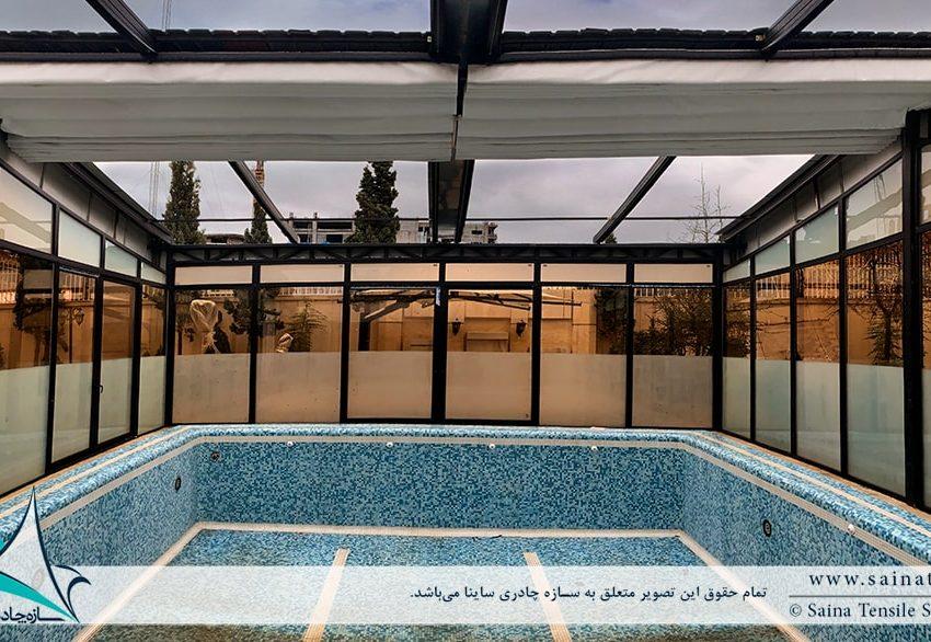 اجرای سقف متحرک استخر در مشهد