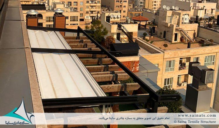 اجرای سقف متحرک روفگاردن در آجودانیه