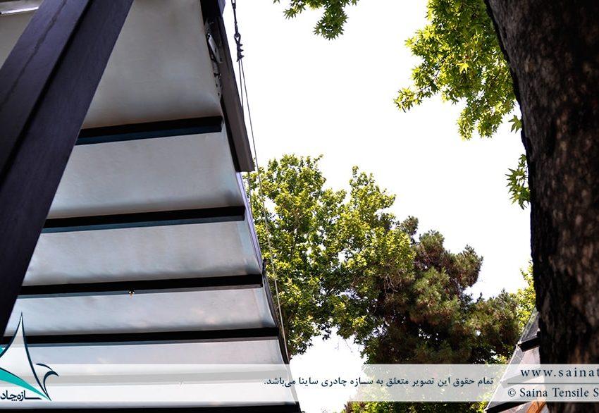 اجرای سقف متحرک پارچه ای استخر