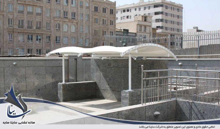 طراحی و اجرای سایبان محوطه فضای سبز اداری در پونک