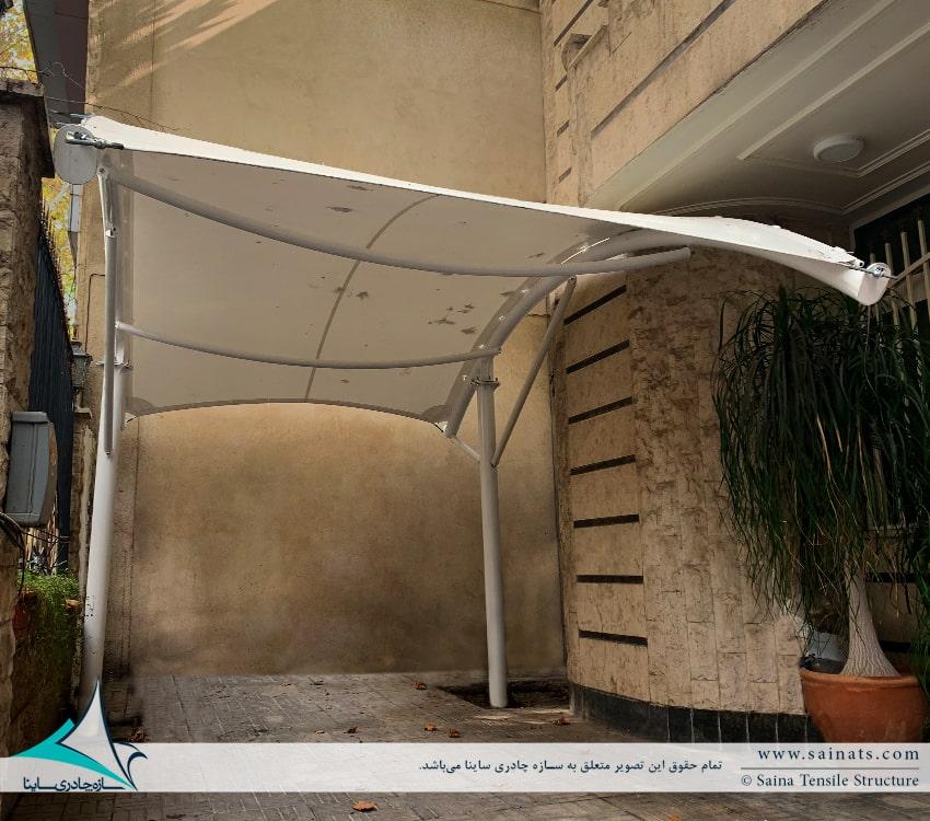 طراحی و اجرای سایبان پارکینگ ماشین در منطقه کامرانیه تهران