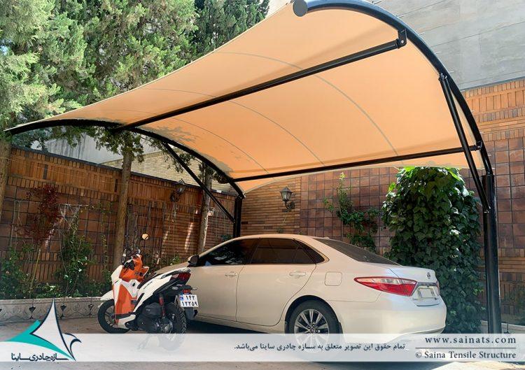 طراحی و اجرای سایبان پارکینگ ساختمان مسکونی پاسداران