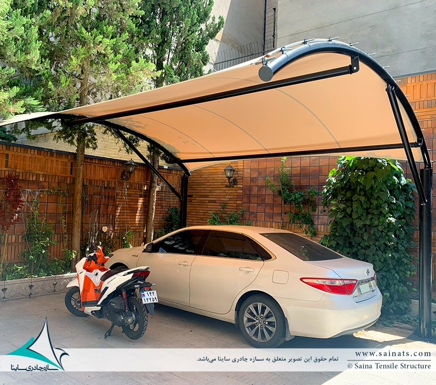 پروژه اجرای سایبان پارکینگ ساختمان مسکونی پاسداران