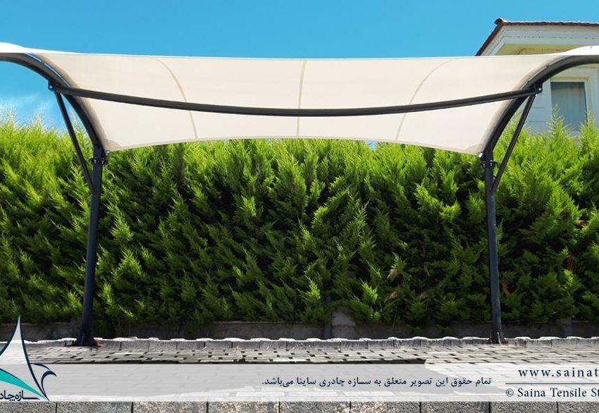 پروژه سایبان پارکینگ ویلا در خزرشهر