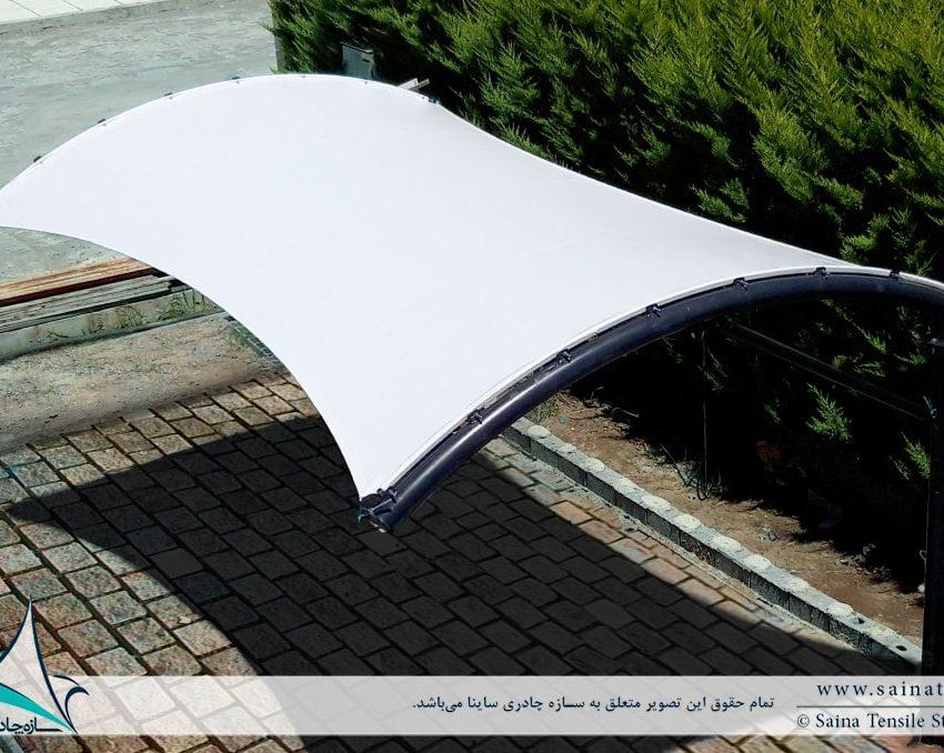 سایبان پارکینگ ویلا در خزرشهر