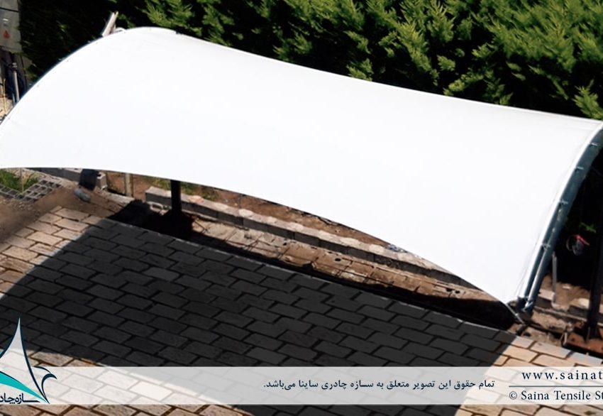 اجرای سایبان پارکینگ ویلا خزرشهر