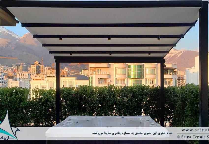 طراحی و اجرای سقف متحرک پنت هاوس در اندرزگو