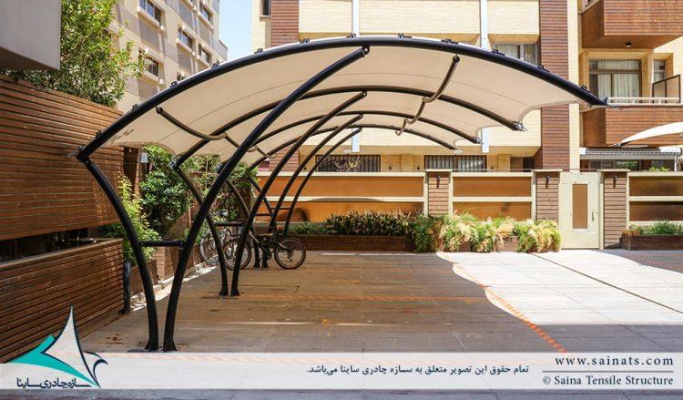 سایبان پارکینگ مجتمع مسکونی اصفهان