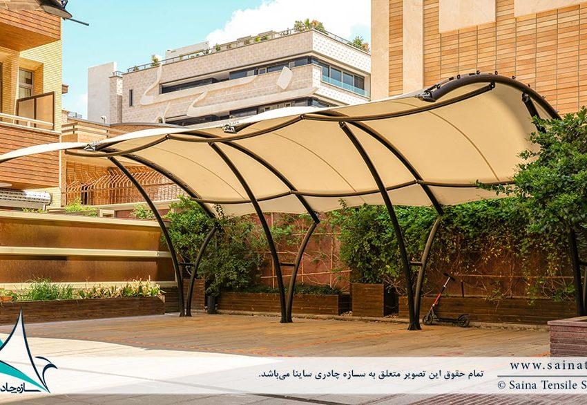 اجرای سایبان پارکینگ مجتمع مسکونی اصفهان