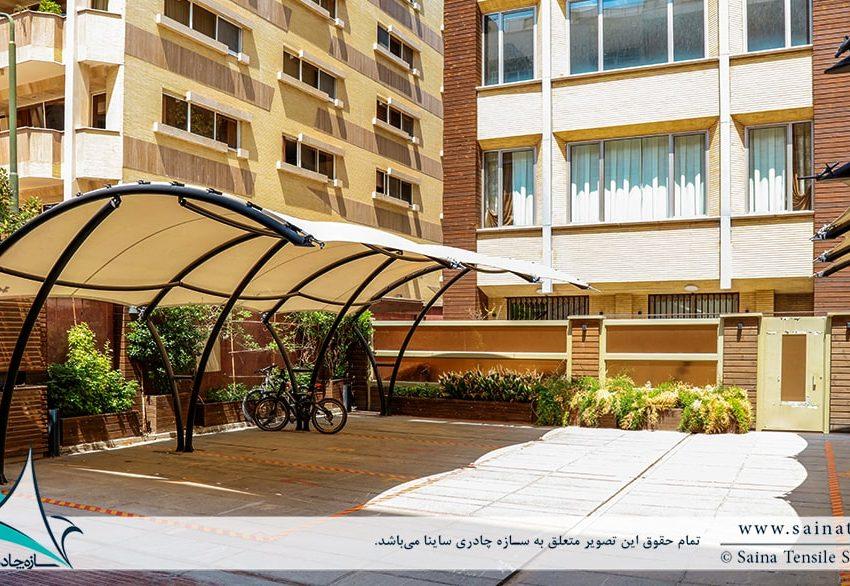 سایبان پارکینگ مجتمع مسکونی در اصفهان