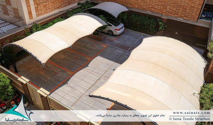 طراحی و اجرای سایبان پارکینگ مجتمع مسکونی در اصفهان