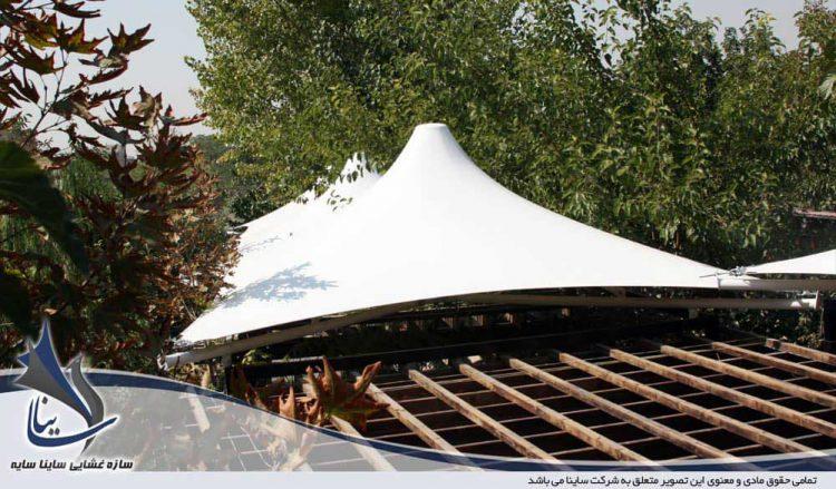 پروژه سایبان آلاچیق رستوران لرد در شهرک غرب