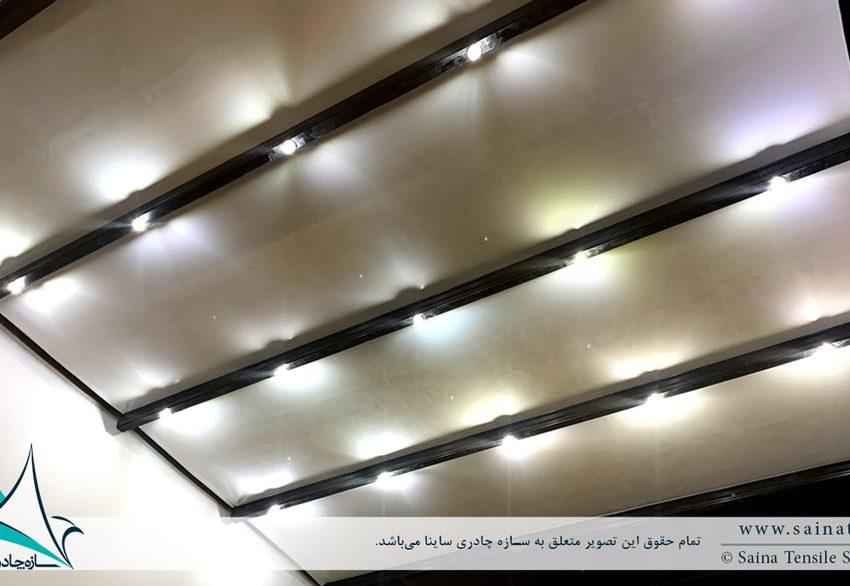 اجرای سقف متحرک پارچه ای پاسیو در ولنجک